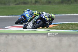 TT CIRCUIT, ASSEN, NETHERLANDS - 2016/06/24: Valentino Rossi (movistar Yamaha) during the free practice sessions at TT Assen. (Photo by Gaetano Piazzolla/Pacific Press/LightRocket via Getty Images)