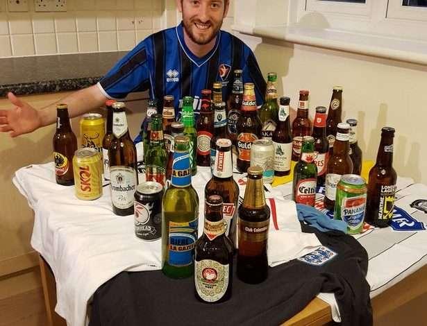 """Pije, muzikë dhe futboll, anglezi koleksionon 32 markat alkoolike të çdo shteti pjesëmarrës në """"Rusi 2018"""""""