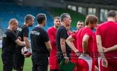 """FOTO/ Partizani zbret në fushën e Mariborit, të """"kuqtë"""" para misionit të vështirë në tokën sllovene"""