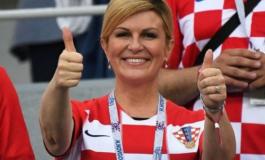 FOTO/ Nuk ishte e pranishme në gjysmëfinale, presidentja e Kroacisë reagon pas suksesit historik
