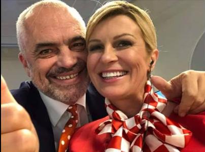 Edi Rama publikon foton e ditës, presidentja kroate pranë kryeministrit të vendit