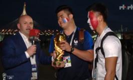 """LAJMI I FUNDIT/ Pas ndeshjes Francë-Belgjikë, tifozët """"vjedhin"""" Kupën e Botës"""
