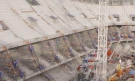 FOTO/ Stadiumi i ri drejt përfundimit, inagurohet më shpejt se ç'pritej