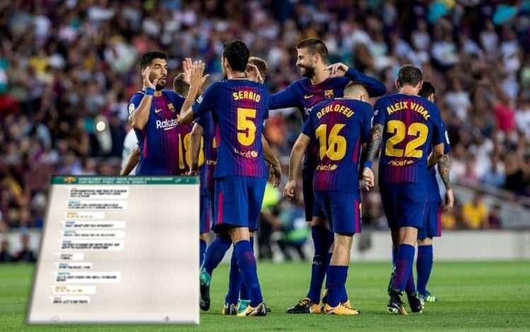 """Çfarë ndodh në grupin e """"Whatsapp"""" te Barcelona? E zbulon lojtari i katalanasve: Messi nga një tjetër planet, ja ç'bëjmë me njëri-tjetrin"""